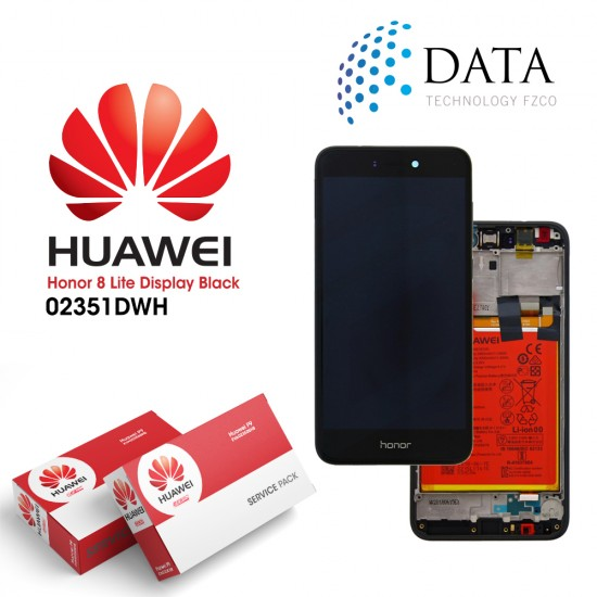 Huawei Honor 8 Lite -LCD Display + Touch Screen + Battery Black 02351DWH