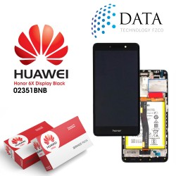 Huawei Honor 6X Premium -LCD Display + Touch Screen + Battery Assy - Grey - 02351BNB