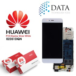 Huawei P10 (VTR-L09, VTR-L29) -LCD Display + Touch Screen + Battery White 02351DQN