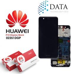 Huawei P10 (VTR-L09, VTR-L29) -LCD Display + Touch Screen + Battery Black 02351DGP