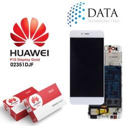 Huawei P10 (VTR-L09, VTR-L29) -LCD Display + Touch Screen + Battery Gold 02351DJF