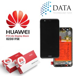 Huawei P10 Lite (WAS-L21) -LCD Display + Touch Screen + Battery Black 02351FSE