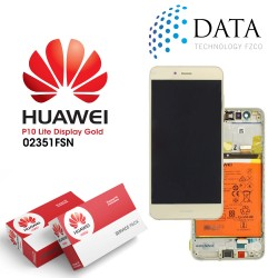 Huawei P10 Lite (WAS-L21) -LCD Display + Touch Screen + Battery Gold 02351FSN