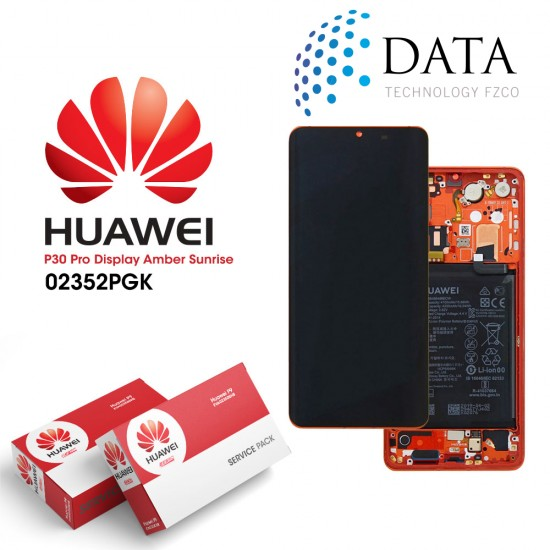 Huawei P30 Pro (VOG-L09 VOG-L29) -LCD Display + Touch Screen + Battery Amber Sunrise 02352PGK