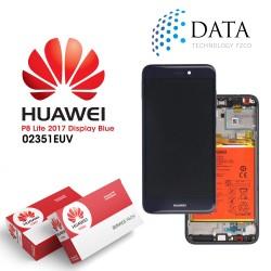 Huawei P8 Lite 2017 (PRA-L21) -LCD Display + Touch Screen + Battery Blue 02351EUV