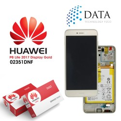 Huawei P8 Lite 2017 (PRA-L21) -LCD Display + Touch Screen + Battery Gold 02351DYP