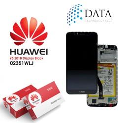 Huawei Y6 2018 (ATU-L21, ATU-L22) -LCD Display + Touch Screen + Battery Black 02351WLJ