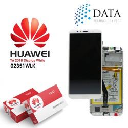 Huawei Y6 2018 (ATU-L21, ATU-L22) -LCD Display + Touch Screen + Battery White 02351WLK