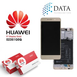 Huawei Y7 (TRT-L21) -LCD Display + Touch Screen + Battery Gold 02351GEQ