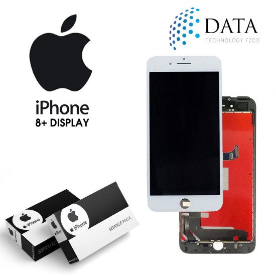 -LCD Display + Touch Screen White for iPhone 8+