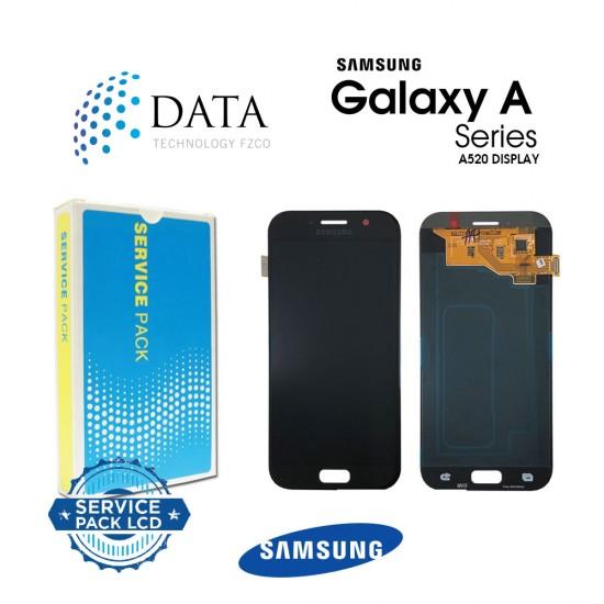 Samsung Galaxy A5 2017 (SM-A520F) -LCD Display + Touch Screen Black GH97-19733A