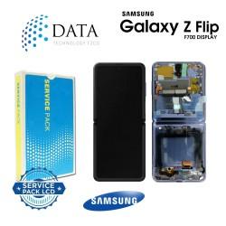 Samsung Galaxy Z Flip (SM-F700F) -LCD Display + Touch Screen mirror Purple GH82-22215B