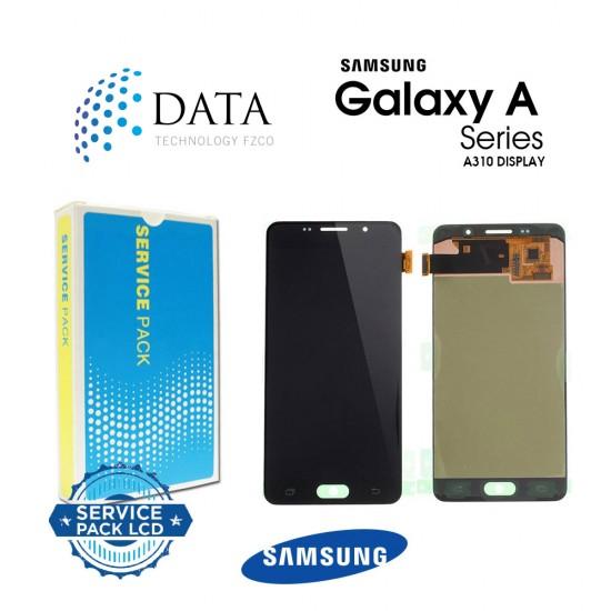 Samsung SM-A310 Galaxy A3 (2016) -LCD Display + Touch Screen - Black / Gold - GH97-18249B OR GH97-19803B