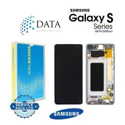 Samsung Galaxy S10 Plus (SM-G975F) -LCD Display + Touch Screen ceramic White GH82-18849J
