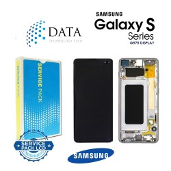 Samsung Galaxy S10 Plus (SM-G975F) -LCD Display + Touch Screen Prism White GH82-18849B