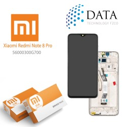 Xiaomi Redmi Note 8 Pro (M1906G7I M1906G7G) -LCD Display + Touch Screen White 56000300G700