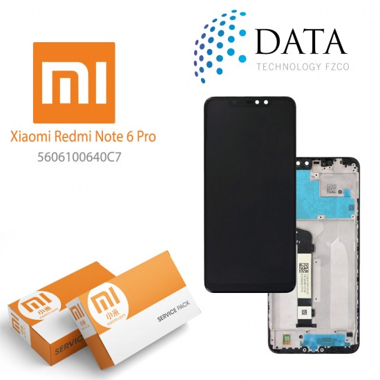 Xiaomi Redmi Note 6 Pro -LCD Display + Touch Screen (Service Pack) Black 5606100640C7