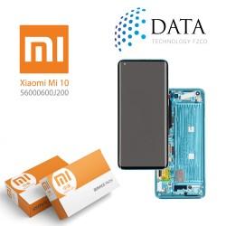 Xiaomi Mi10 -LCD Display + Touch Screen Green (Service Pack) 560000600J200